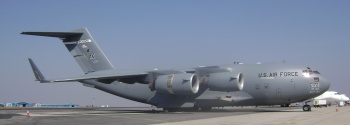 A United States Air Force C-17 Globemaster.