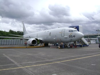 The T2 P-8A aircraft at Puget Sound.