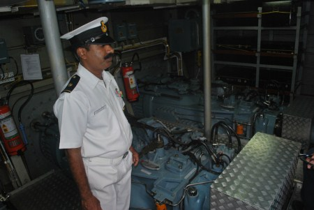 Rao's the man who looks after the engines and keeps those Water Jets running.