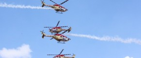 The IAF's aerobatic helicopter team Sarang | Photo: StratPost