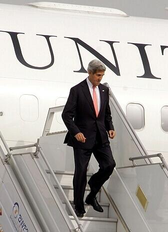 US Secretary of State, John F. Kerry, arrived in India on Sunday.