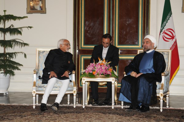 Indian Vice President Hamid Ansari meeting Dr. Hassan Rouhani, in Tehran earlier this month on the sidelines of his swearing in as the new President of Iran | Photo: Ministry of External Affairs