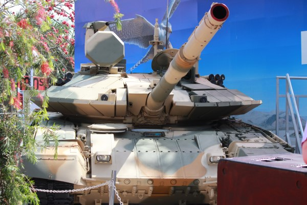 A Russian T-90S at DefExpo 2012 | StratPost